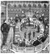 King Arthur : Round Table (miniature from 14th century)