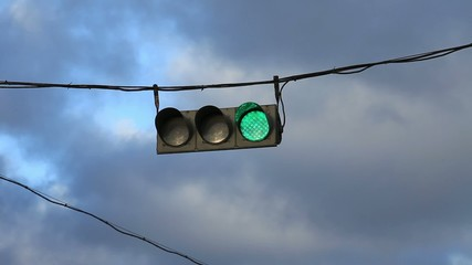 hanging traffic light