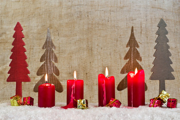 4.. Advent, Adventskerze, Weihnachtsdekoration