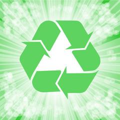 symbol EKO na zielonym tle