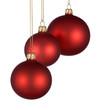 Weihnachtliche Verzierung mit 3 Kugeln