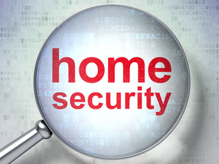 Privacy concept: Home Security with optical glass