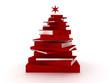 Red books christmas tree