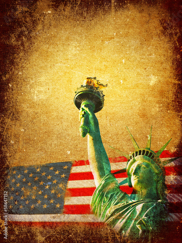 America grunge background
