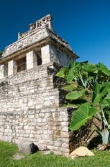 Templo del Sol en las ruinas mayas de Palenque, México