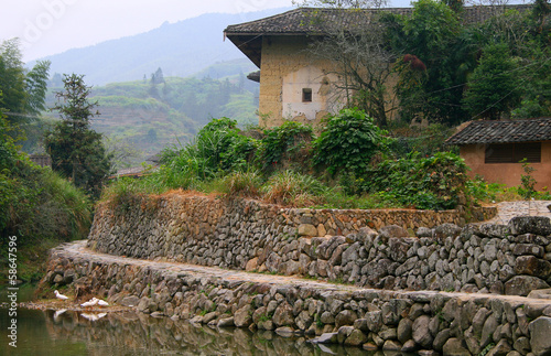 rural landscape in eastern China, Fujian, Yongding
