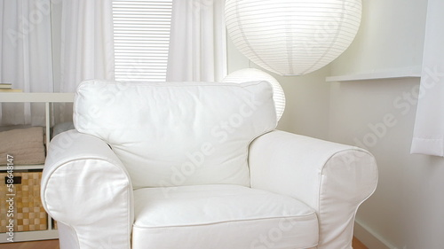 Empty sofa chair in modern living room