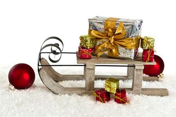 Weihnachtsschlitten, freigestellt