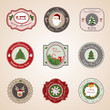 Christmas Labels Set - Isolated On Background