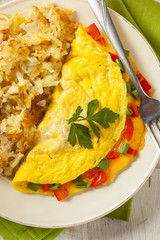 Homemade Organic Vegetarian Cheese Omelette