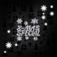 noble christmas special label with stars