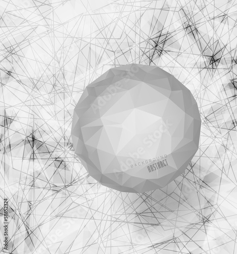 white Bubble with background