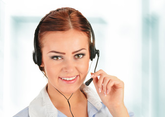 Call center operator. Customer support. Helpdesk.