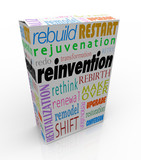 Reinvention Product Package Box Renew Refresh Revitalize poster