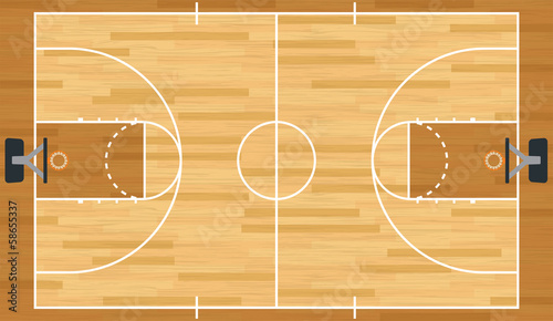 Realistic Vector Basketball Court