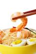 Seaafood in chopstick a