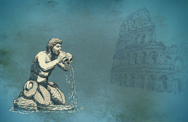 Ancient Rome illustration