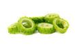 green Bitter Cucumber (Balsum Pear) on white background