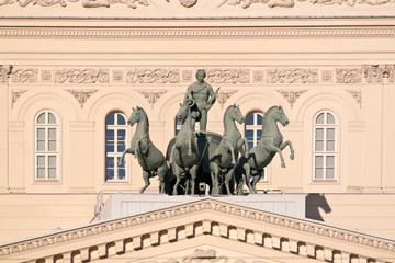 Quadriga with Apollo on the roof of the Large theatre. Ancient s
