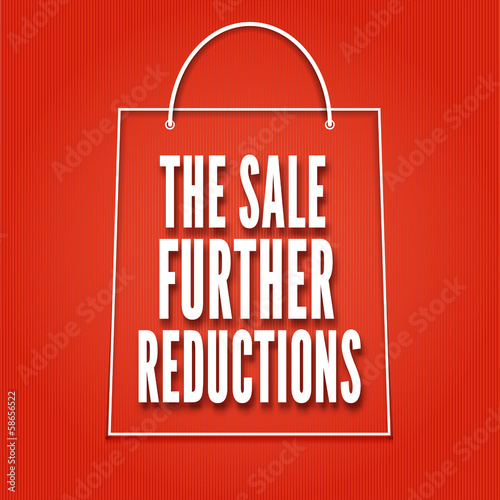 Shopping bag on a bright background