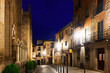 night view of old street. Toledo