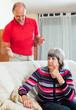 Family quarrel. Mature woman having problems with  husband