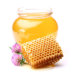 Honey with clover