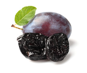 Prune with plum