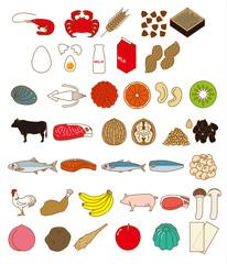 アレルギー物質を含む食品