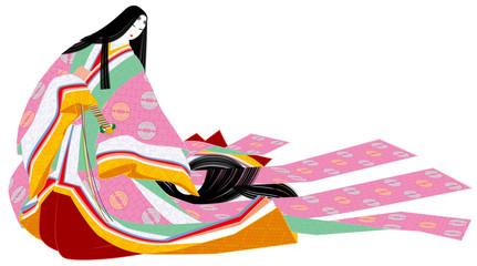 平安時代の女性の装束細長