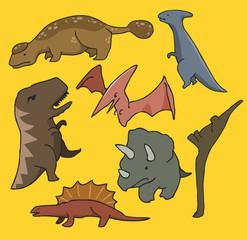 Dinosaurs set flat
