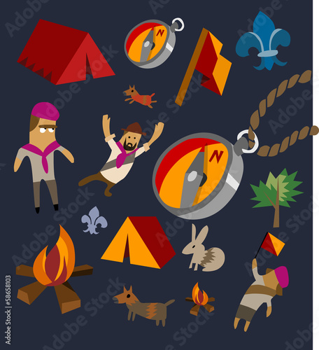 Camping set flat