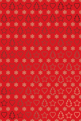 Red gold new year wrapping paper or greetings card design