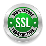 Green SSL secure transaction seal