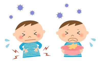 胃腸炎の子供