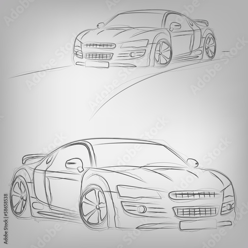 Vector car sketch