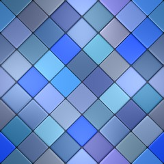 Blue vintage mosaic