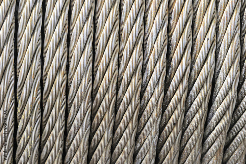 Steel Cable Close Up