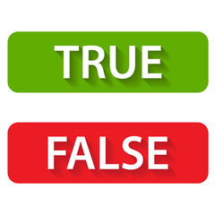 True and false icons