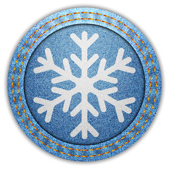 Denim snowflake label