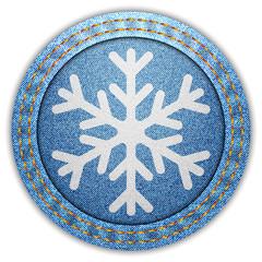 Denim snowflake label