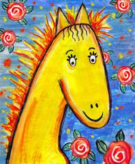 Лошадь-детский рисунок