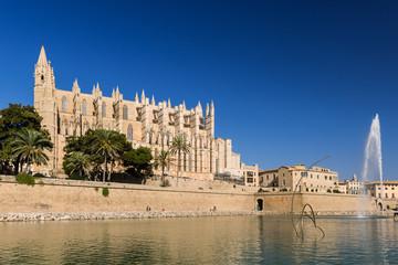 """Kathedrale """"La Seu"""", Parc de la Mar in Palma de Mallorca - 7972"""