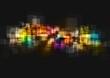 Shiny tech vector art background