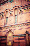 Traditional architecture in famous polish city, Torun, Poland.