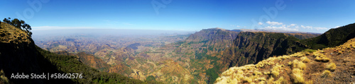 XL panoramic view from the Simien Mountains