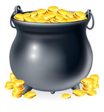 Fototapety Cauldron full of gold coins