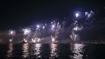 beautiful visual firework show