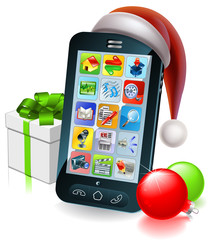 Christmas mobile phone illustration