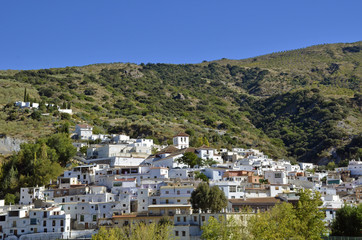 Overview of Torvizcon, small Moorish village in Las Alpujarras